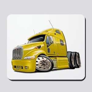 Peterbilt 587 Yellow Truck Mousepad