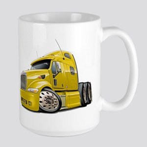 Peterbilt 587 Yellow Truck Large Mug