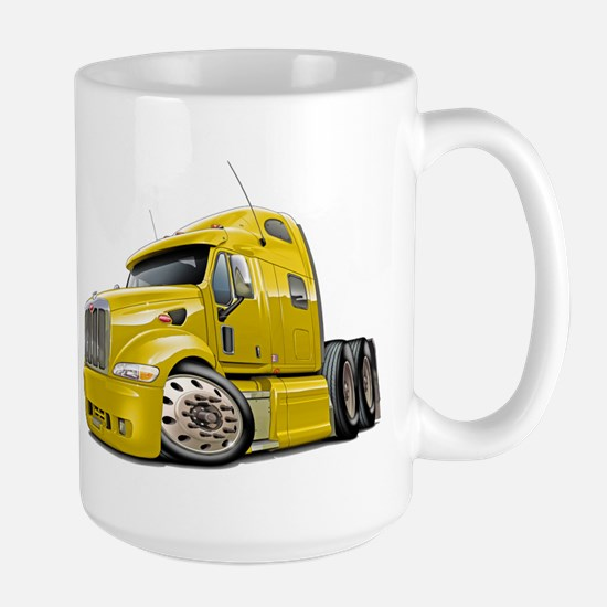 Peterbilt 587 Yellow Truck Large Mug