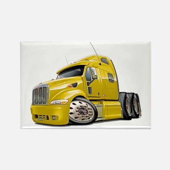 Peterbilt 587 Yellow Truck Rectangle Magnet