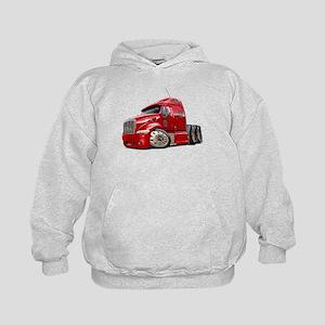 Peterbilt 587 Red Truck Kids Hoodie
