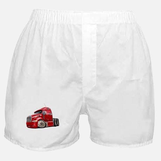 Peterbilt 587 Red Truck Boxer Shorts