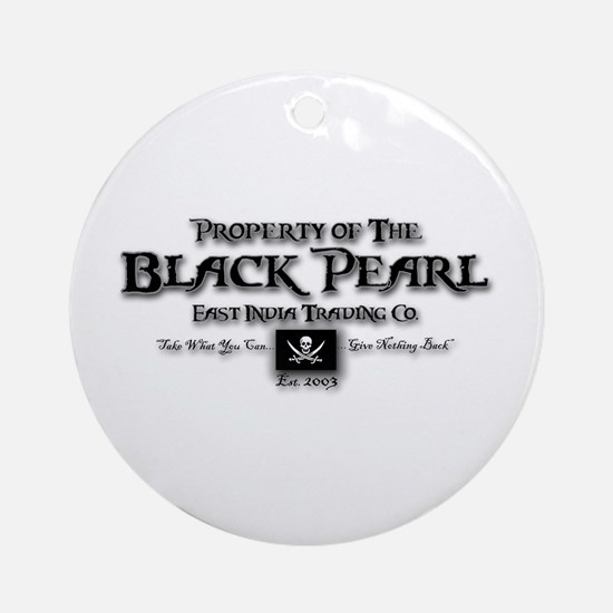 Black Pearl Ornament (Round)