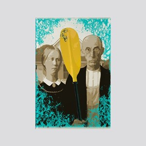 AMERICAN GOTHIC KAYAKERS Rectangle Magnet