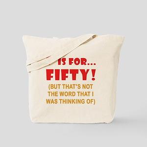 Attitude 50th Birthday Tote Bag