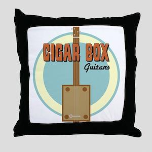 Cigar Box Guitar Throw Pillow