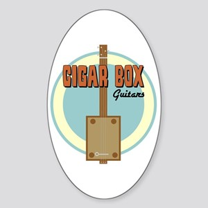 Cigar Box Guitar Sticker (Oval)