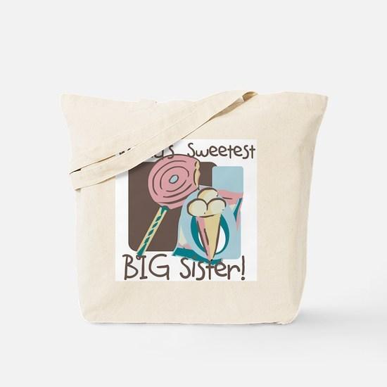 World's Sweetest Big Sister Tote Bag