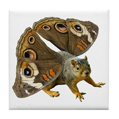 Butterfly Squirrel Tile Coaster