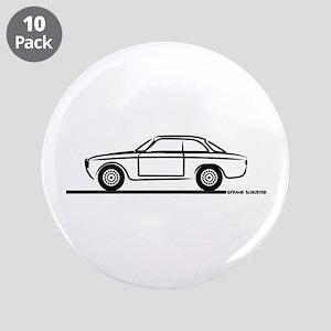 """1966 Alfa GTA GTV 3.5"""" Button (10 pack)"""