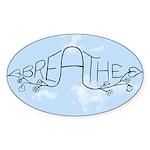 Breathe Sticker (Oval 50 pk)