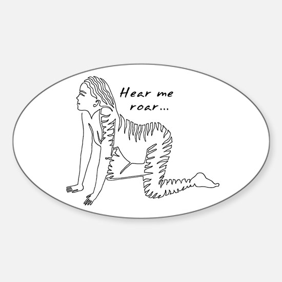 Hear Me Roar... Oval Decal