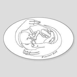 Precious Gift Oval Sticker