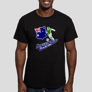 Australian soccer design Men's Fitted T-Shirt (dar