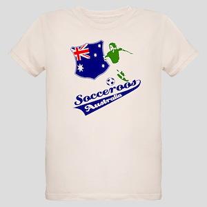 Australian soccer design Organic Kids T-Shirt