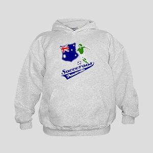 Australian soccer design Kids Hoodie