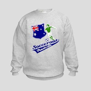 Australian soccer design Kids Sweatshirt