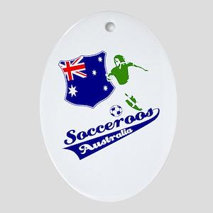 Australian soccer design Ornament (Oval)