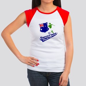 Australian soccer design Women's Cap Sleeve T-Shir