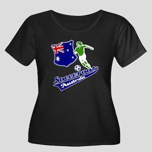 Australian soccer design Women's Plus Size Scoop N