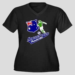 Australian soccer design Women's Plus Size V-Neck