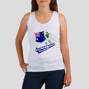 Australian soccer design Women's Tank Top