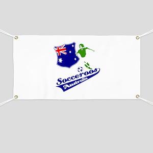 Australian soccer design Banner