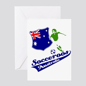 Australian soccer design Greeting Card