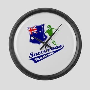 Australian soccer design Large Wall Clock