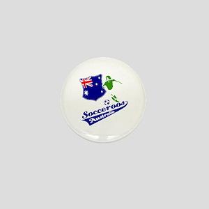 Australian soccer design Mini Button