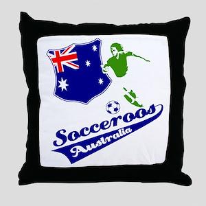 Australian soccer design Throw Pillow