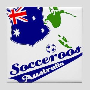 Australian soccer design Tile Coaster