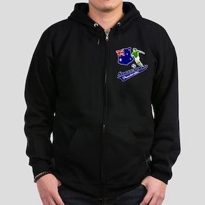 Australian soccer design Zip Hoodie (dark)