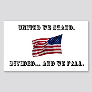 """United We Stand"" Sticker (Rectangle)"