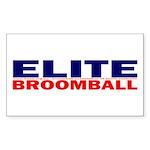 Elite Broomball Sticker (Rectangle 50 pk)