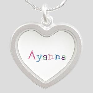 Ayanna Princess Balloons Silver Heart Necklace