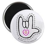 Black/Red Dotty Love Hand Magnet
