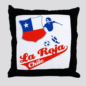 Chilean soccer Throw Pillow