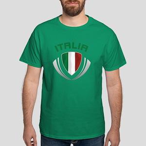 Soccer Crest ITALIA Dark T-Shirt