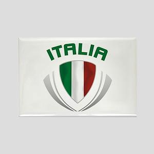 Soccer Crest ITALIA Rectangle Magnet