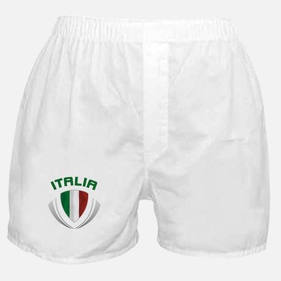 Soccer Crest ITALIA Boxer Shorts
