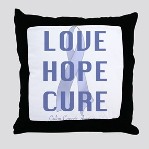 Colon Cancer (lhc) Throw Pillow