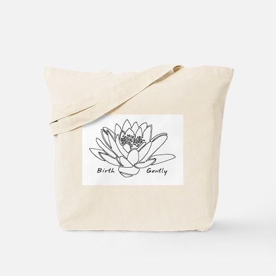 Lotus Birth Tote Bag