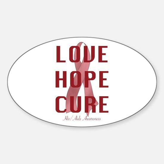 Hiv/Aids Awareness (lhc) Sticker (Oval)