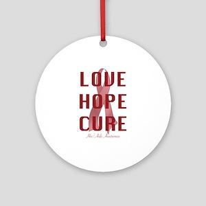 Hiv/Aids Awareness (lhc) Ornament (Round)