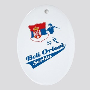 Serbian soccer Ornament (Oval)