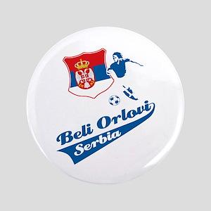 "Serbian soccer 3.5"" Button"