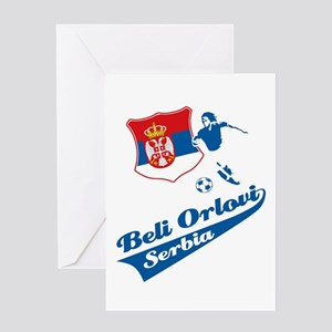 Serbian soccer Greeting Card