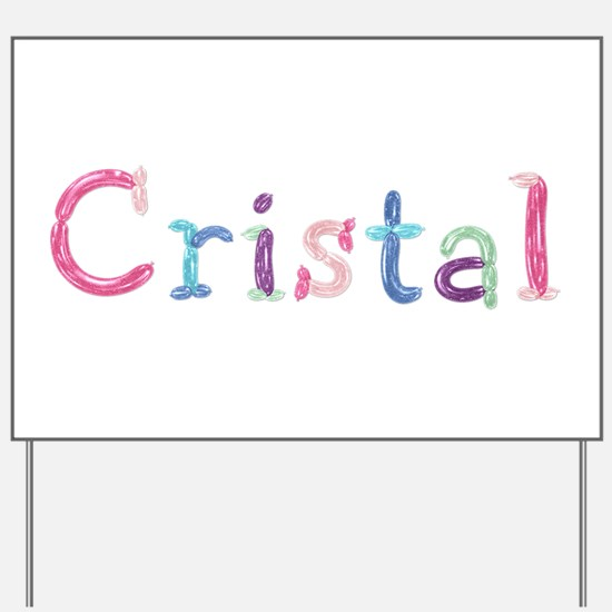 Cristal Princess Balloons Yard Sign
