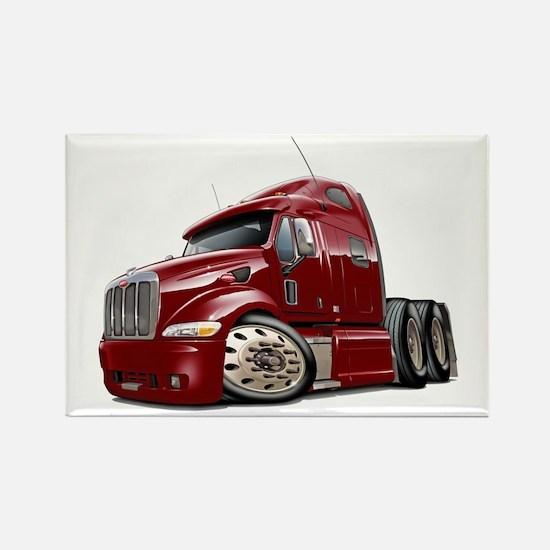 Peterbilt 587 Maroon Truck Rectangle Magnet